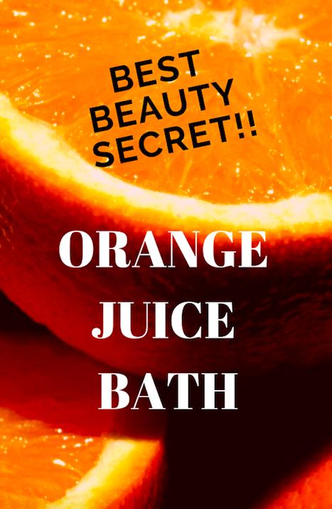 Best Beauty Secret - Orange Juice Bath