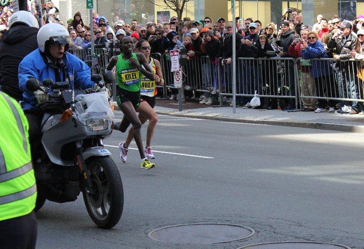 Caroline Kilel and Desiree Davila - Boston Marathon 2011
