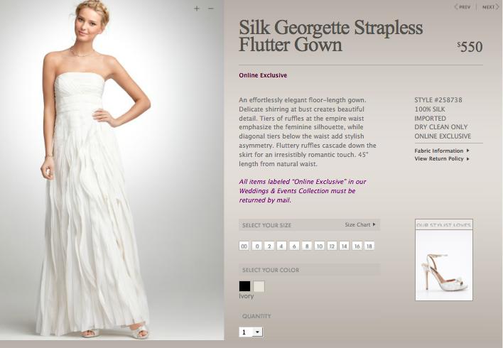 Ann Taylor Wedding Gowns: An Ann Taylor Wedding Dress