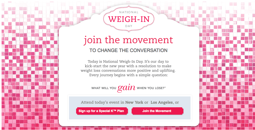 Special K National Weigh-in Day