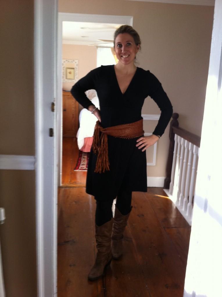 Karen Kane Wrap Top Sweater Dress