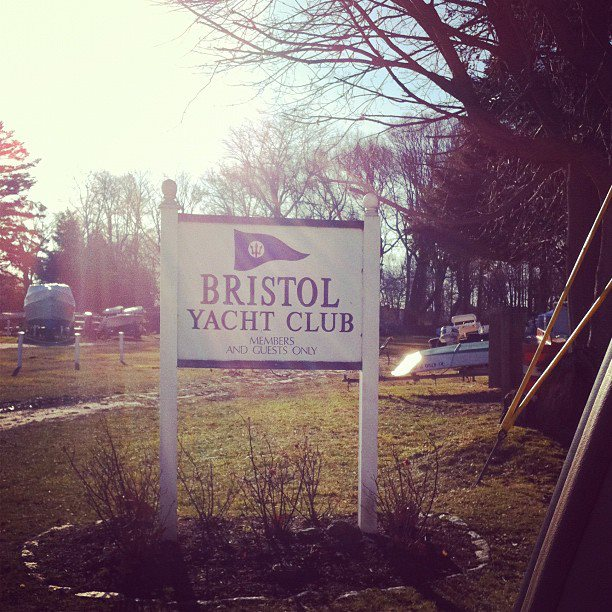 Bristol Yacht Club entrance - January 2012