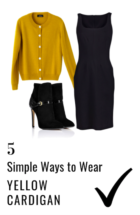 How to Wear a Yellow Cardigan