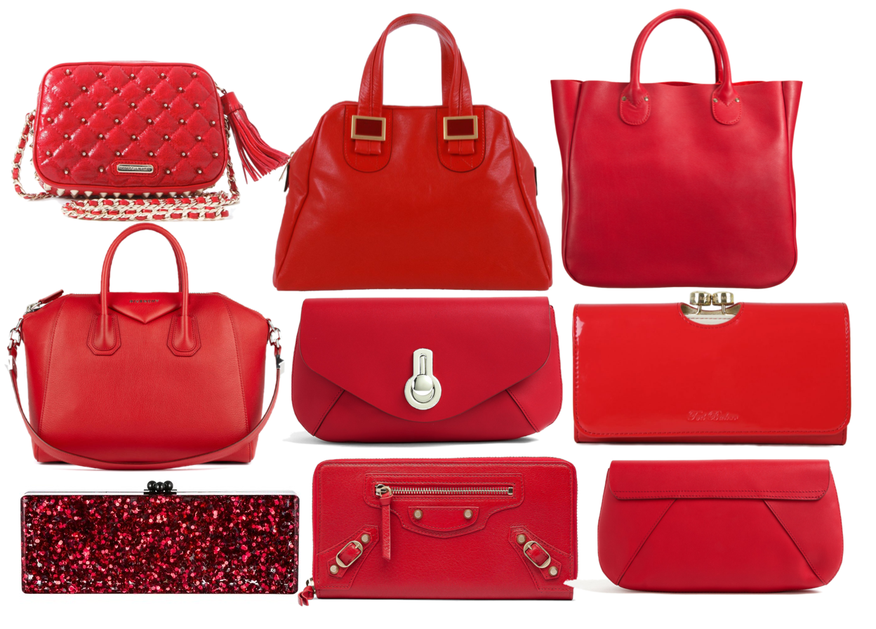 Fashion Inspiration For The Day Red Handbags
