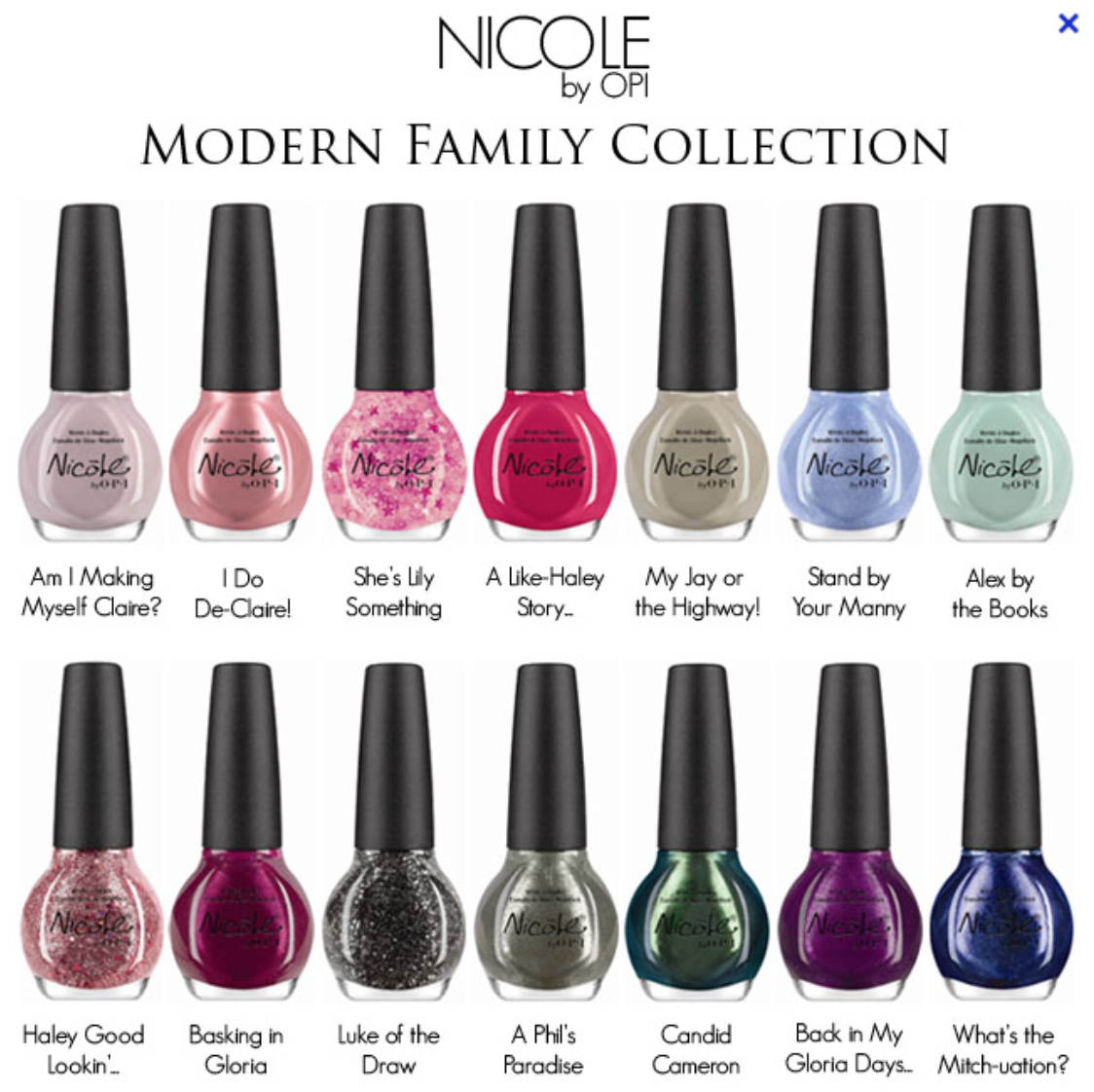 Beauty News: Nicole by OPI Releasing Modern Family-Inspired ...