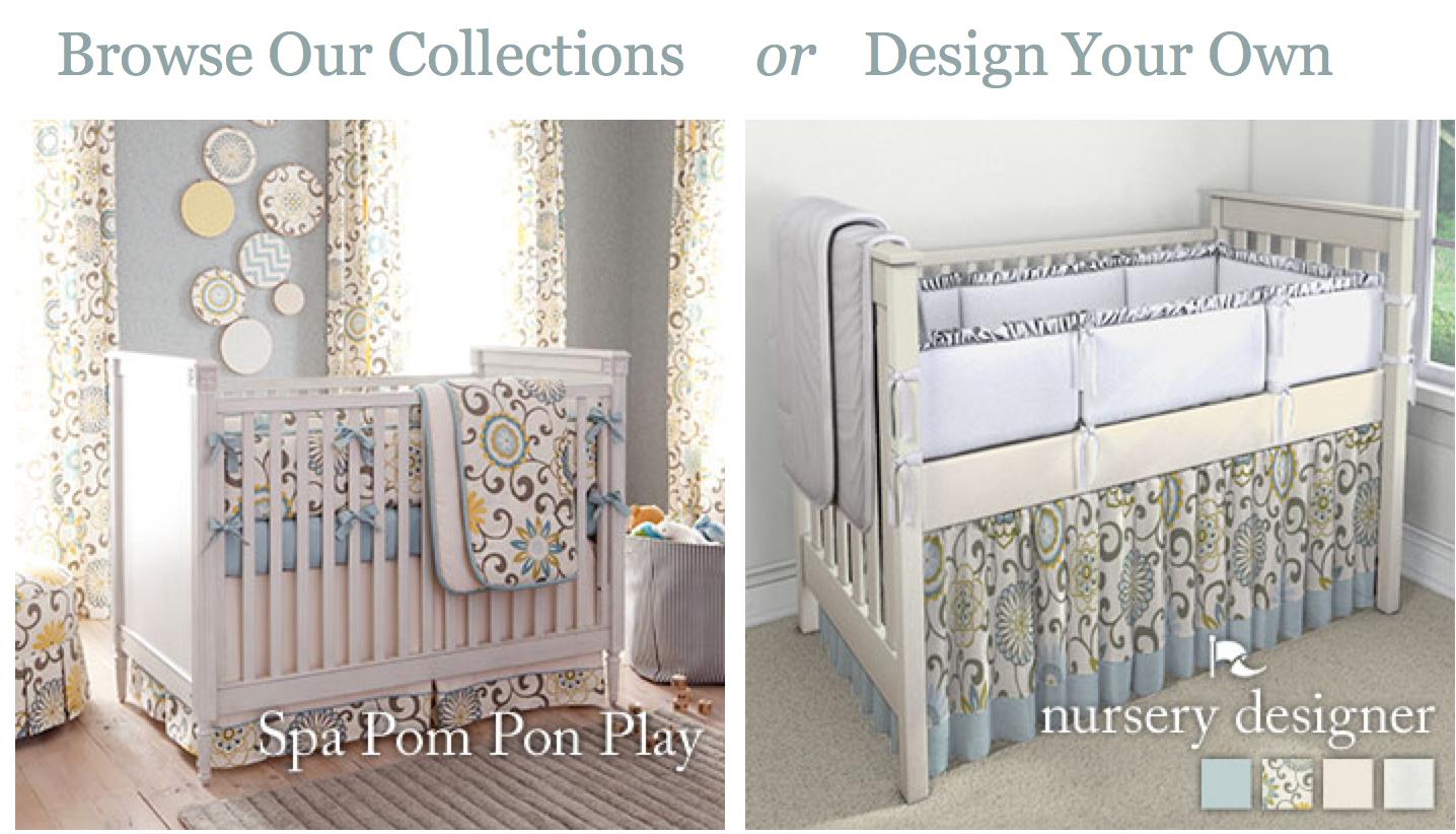 Bumps Babies I Heart Carousel Designs Custom Nursery Bedding