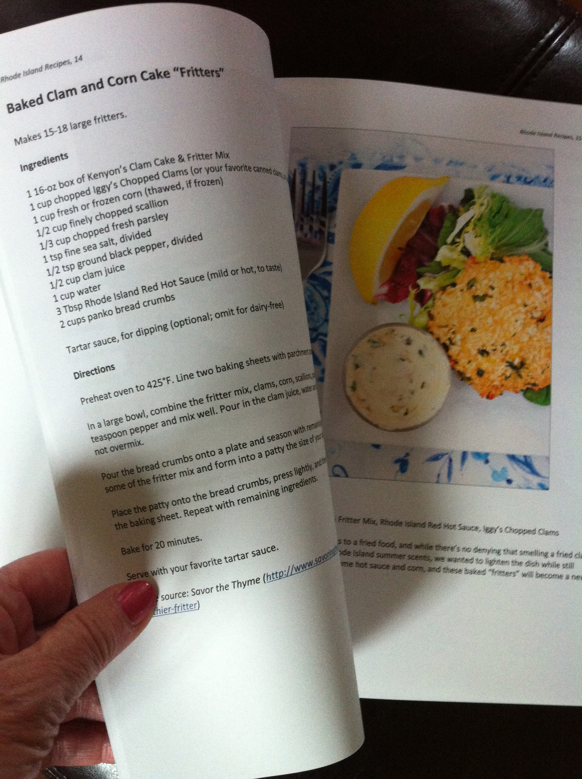 Talking about the book - RHODE ISLAND RECIPES - by Lydia ...