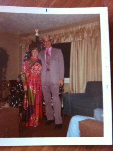 My Mom & Dad ~ Christmas 1971