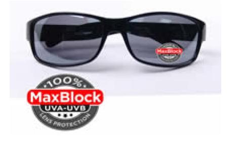 dark black pair of Foster Grant sunglasses
