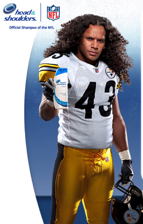 Troy Polamalu Head & Shoulders
