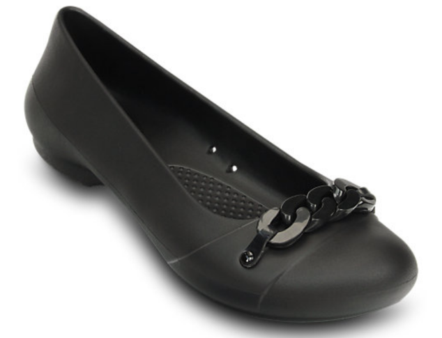 Crocs Gianna Link Flat in black
