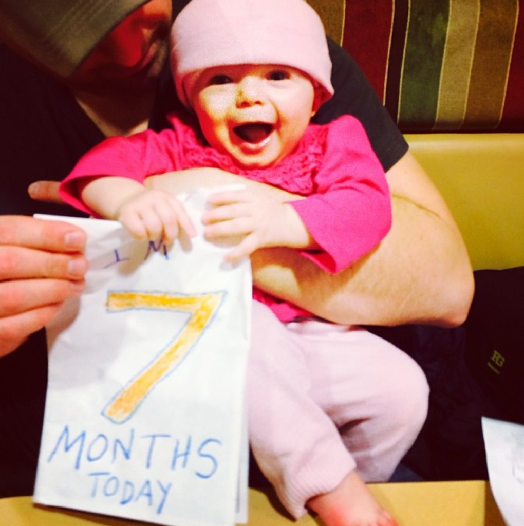 7 month old baby photo