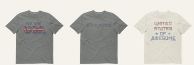 Life is good USA t-shirts