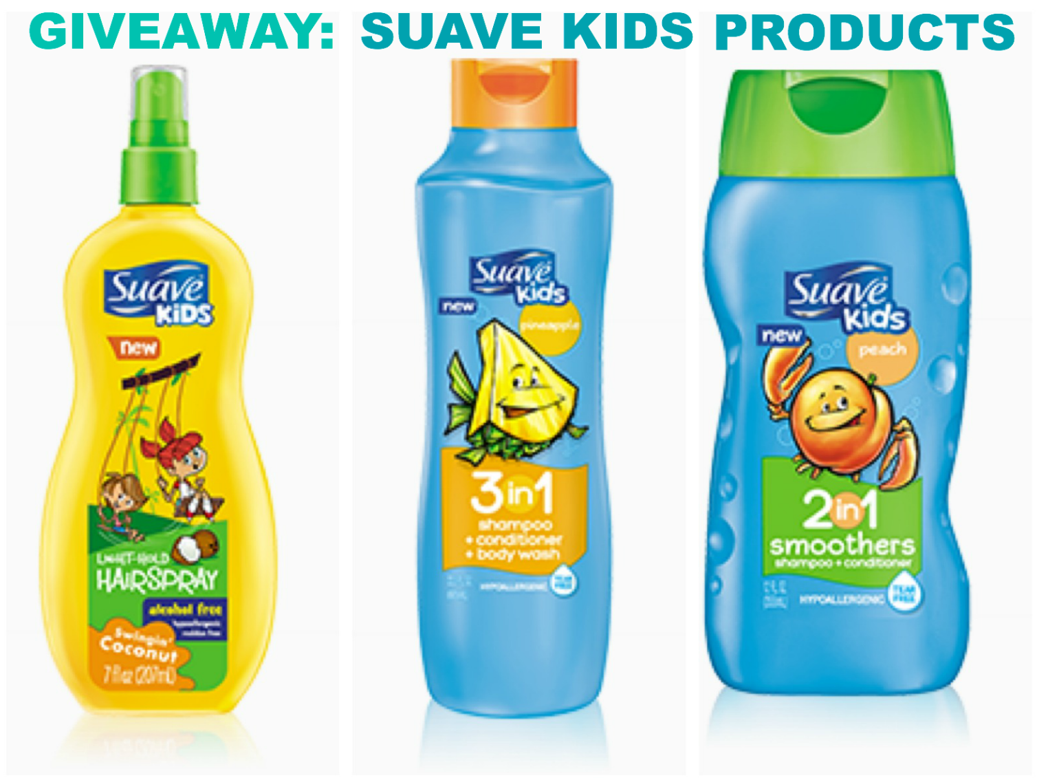 Giveaway New Suave Kids Products For Your Little One