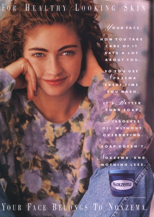 Noxema Ad with Rebecca Gayheart