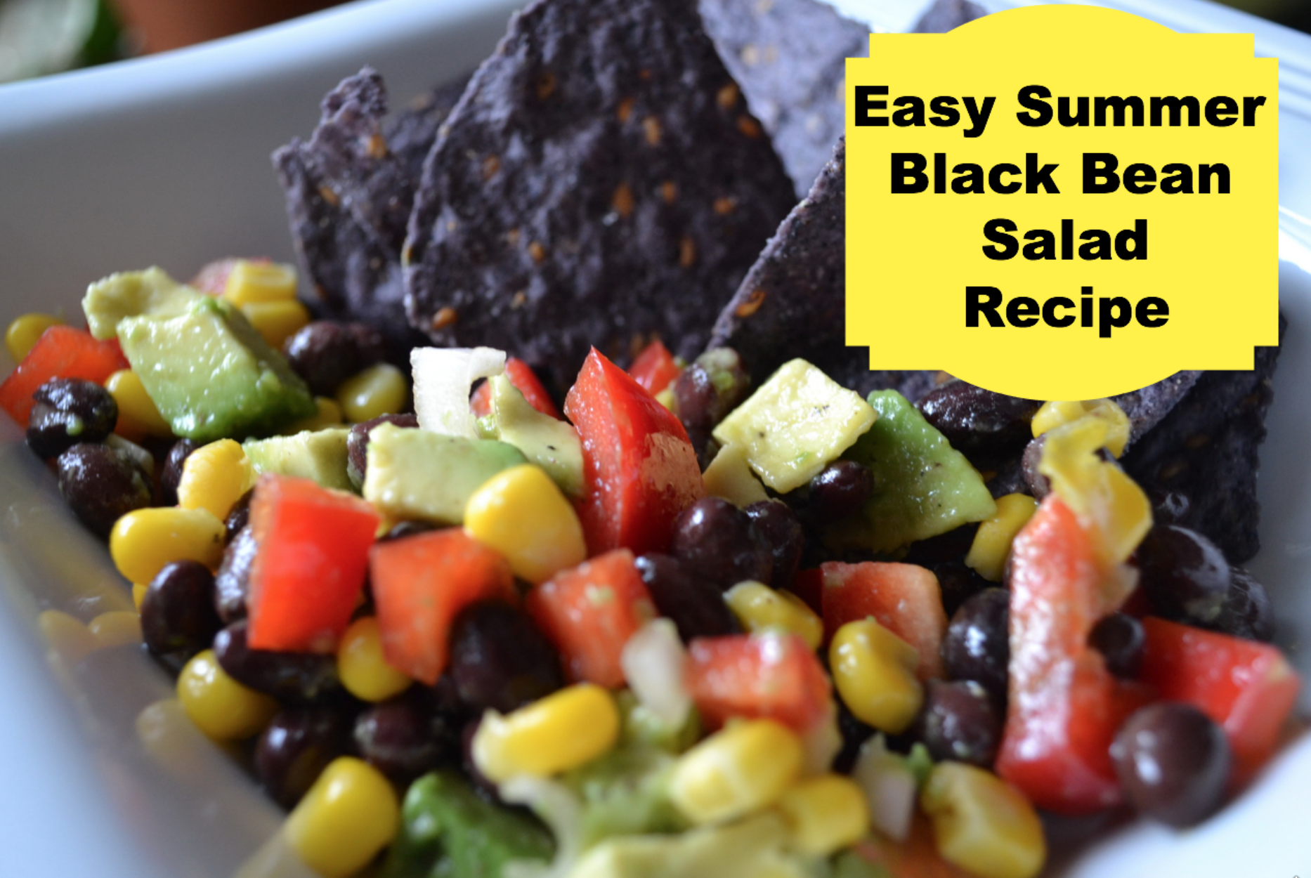Easy Summer Black Bean Salad Recipe