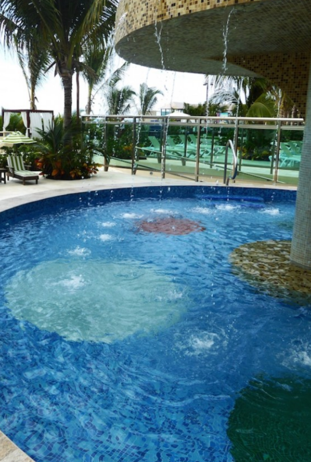 Swim under pool in Mexico