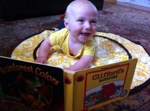 Reading at Grandma and Grandpa's house