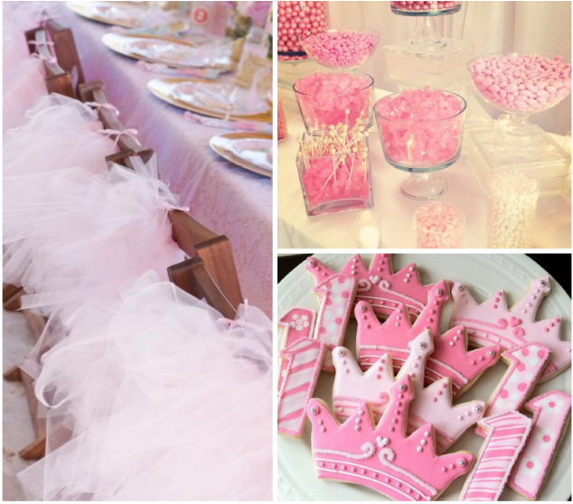 Decorations for a Princess Birthday Party