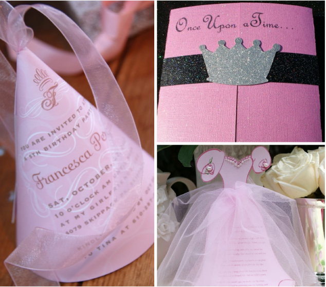 Invitations for a Princess Party
