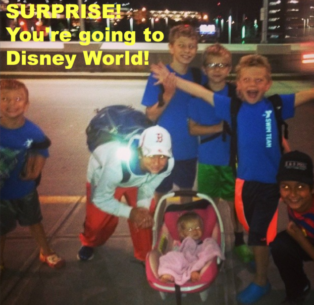 Surprise to Trip to Disney World