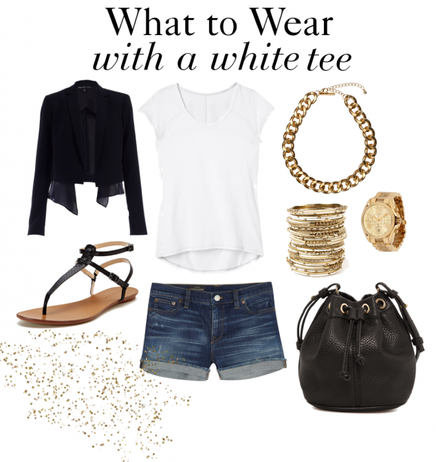 What to wear with a white tee