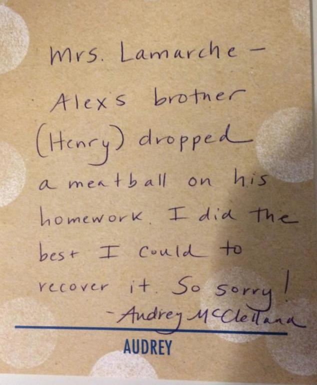 best homework excuse note
