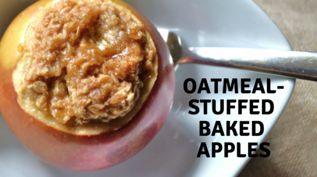 Healthy Baked Apples - Oatmeal-stuffed Baked Apples