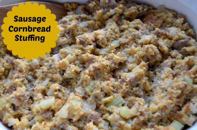 Thanksgiving Recipes: Sausage Cornbread Stuffing - Stylish ...