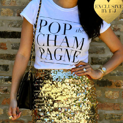 Pop the Champagne Tee