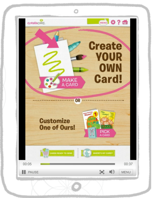 Creatacard by american greetings stylish life for moms creatacard by american greetings is a free ipad app that turns your childs imagination into a thoughtful custom card that they professionally print and m4hsunfo