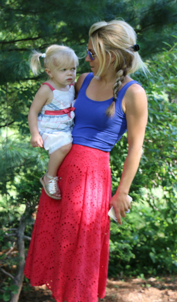 Mommy and Daughter 4th of July outfits