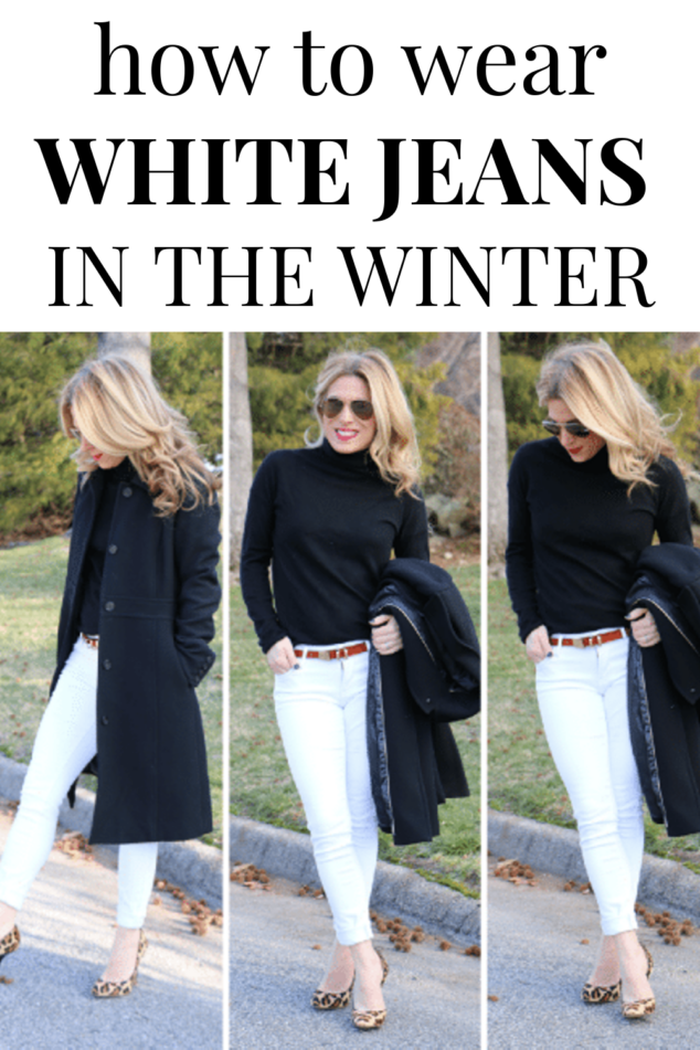 how to wear white jenas in the winter