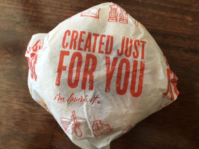 McDonald's Chicken Sausage Sandwich