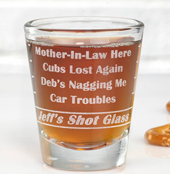 Troubles Shot Glass
