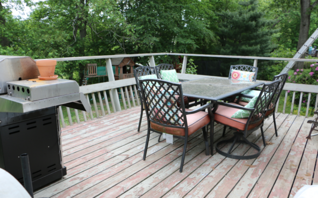 Our deck is the place we love to hang out in the summer!