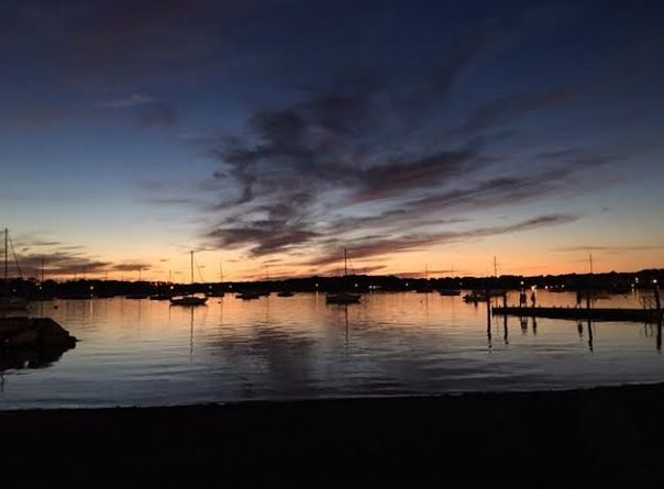 ~ A photo of the harbor in my town, one that I will share with my grandkids as we read Evening together ~