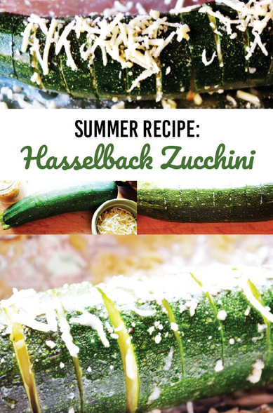 Hasselback Zucchini - Summer Recipe