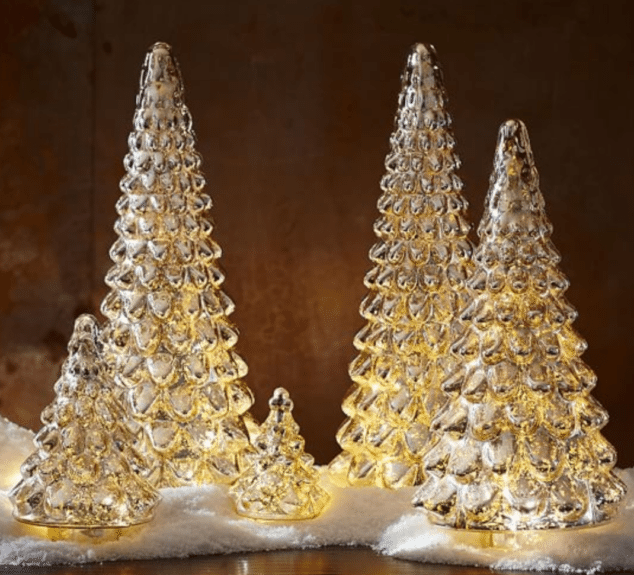 gold trees for christmas