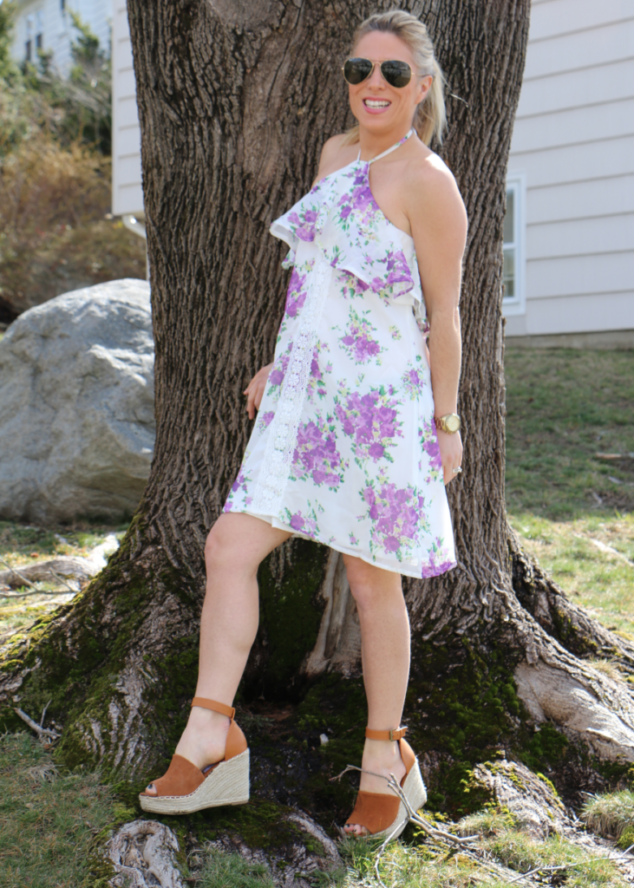 How to Wear a Floral Dress to a Wedding