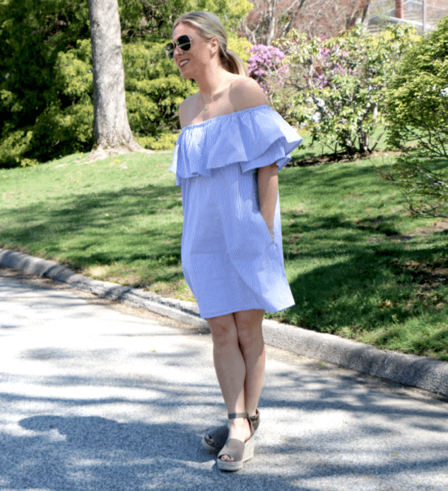 Off the shouler dress for spring