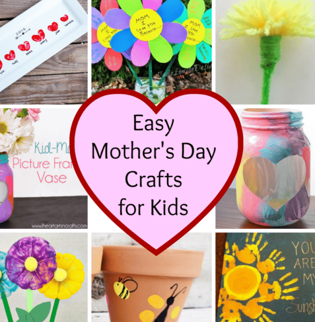Easy Mothers Day Crafts For Kids Stylish Life For Moms