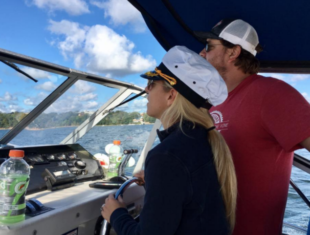 Boating for beginners pro tip: Get a fun captain's hat!