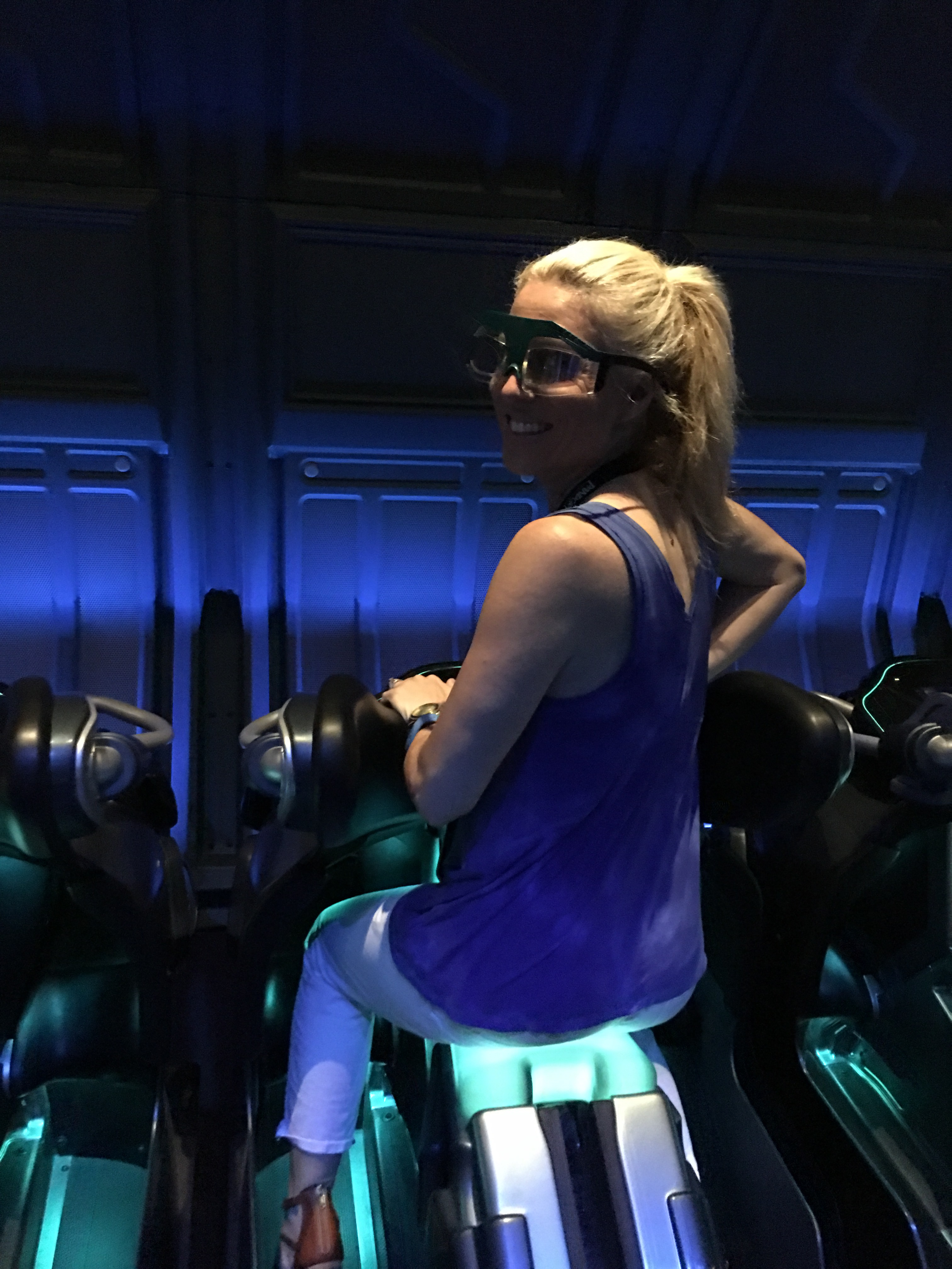 Here I am getting read to enjoy a ride at Pandora: The World of Avatar.