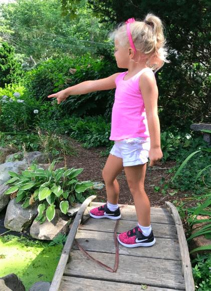 Victoria felt so sassy in her sneakers.
