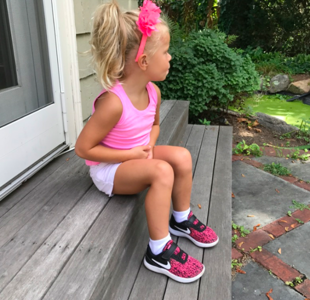 The black and pink of these sneakers was so poppy and cute!