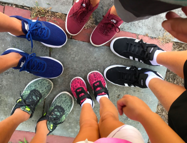 """As you can see, """"perfect sneakers"""" means different things to each of our kids."""