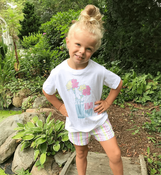 Olivia loves her Lands' End Love Learning graphic tee.