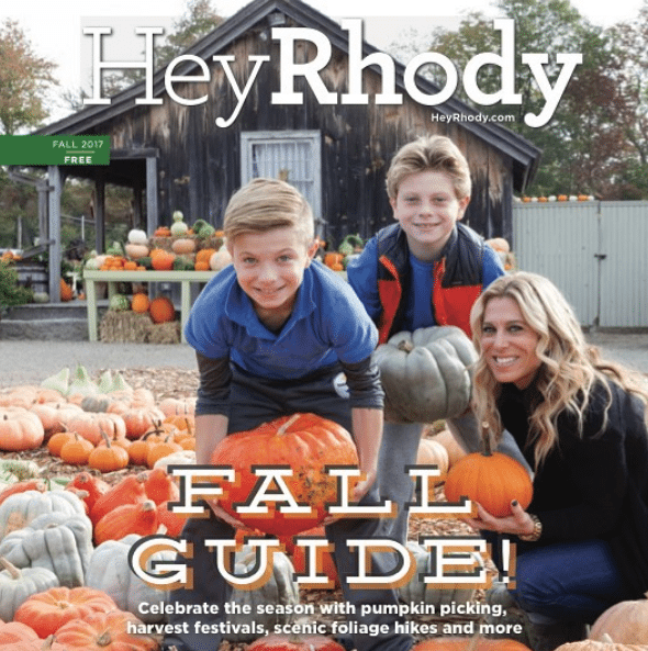 I'm so proud to be on the cover of Hey Rhody magazine!