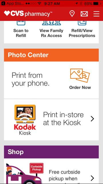 The CVS Pharmacy app makes ordering photos easy.